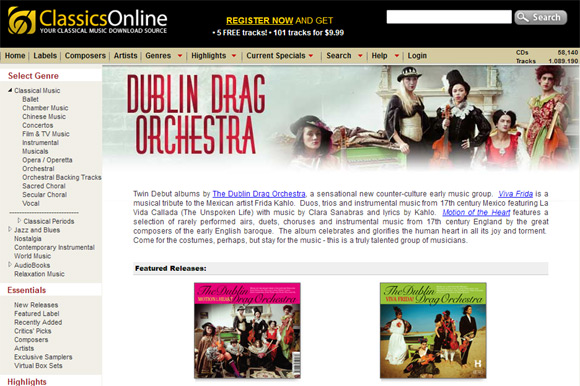 The Dublin Drag Orchestra on Classics Online