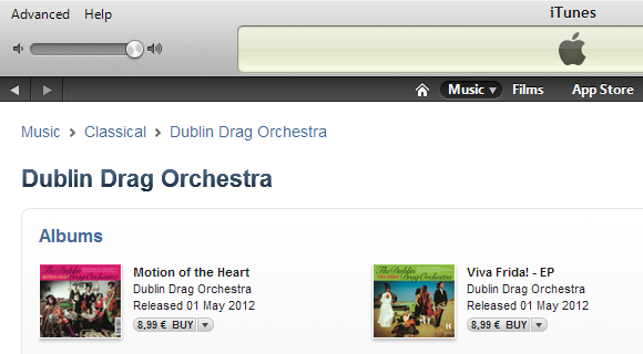 The Dublin Drag Orchestra on iTunes