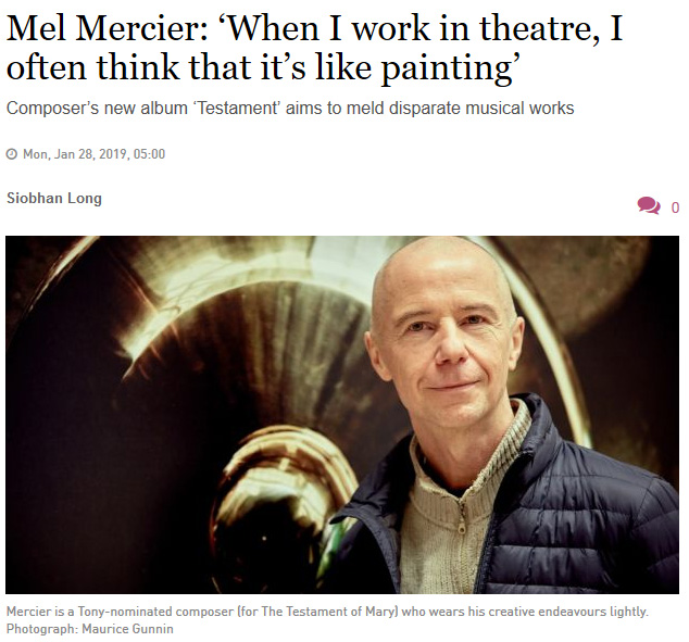 Mel Mercier Irish Times Interview